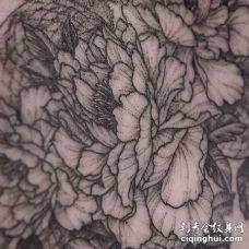 牡丹纹身图案