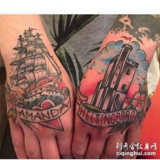 Old School手背纹身图案
