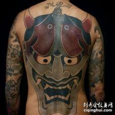 日式后背般若纹身图案