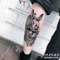 暗黑 小腿内侧 兔子
