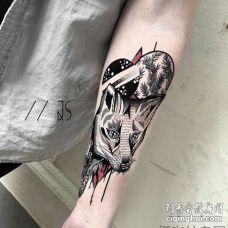 暗黑 小臂内侧 狐狸