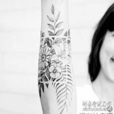 小清新 大臂内侧 植物 花