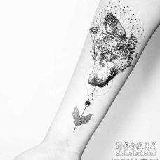 几何 小臂内侧 动物 狼