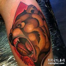 New school 小腿外侧 熊