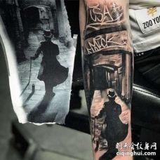 写实小臂纹身图案