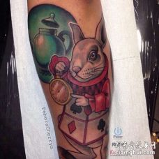New School小臂兔子纹身图案