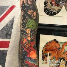 日式胳膊钟馗纹身图案