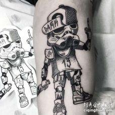 星球大战大臂黑武士纹身图案