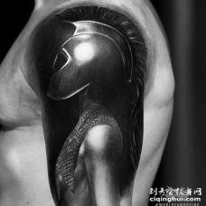 写实大臂人像纹身图案