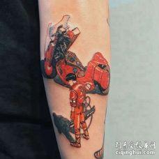 卡通小臂纹身图案