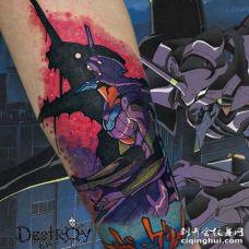 卡通大臂高达纹身图案