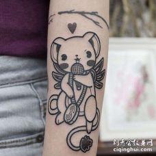 卡通小臂百变小樱纹身图案