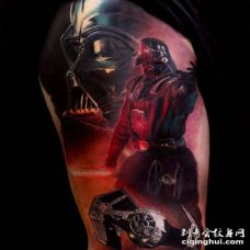写实大臂星际大战黑武士纹身图案