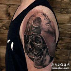 写实大臂星际大战黑武士骷髅纹身图案