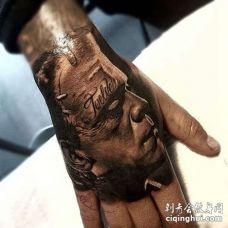 写实手背僵尸纹身图案