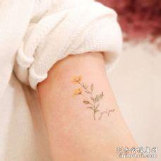 小清新大臂向日葵纹身图案