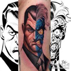 卡通小臂人像纹身图案