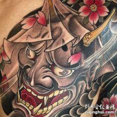 日式前胸般若纹身图案