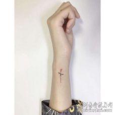 小清新手腕玫瑰纹身图案