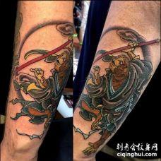 日式小臂孙悟空纹身图案