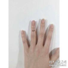 小清新手指数字纹身图案