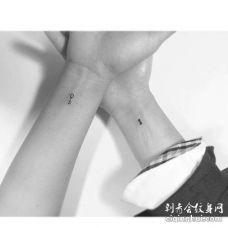 小清新手腕钥匙锁纹身图案