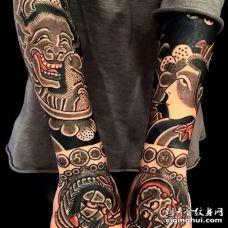 日式小臂纹身图案
