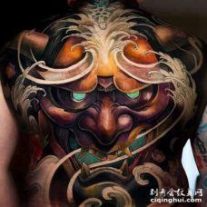 新传统后背般若纹身图案
