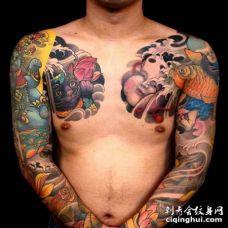 日式胳膊纹身图案