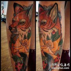 小腿外侧new school狐狸