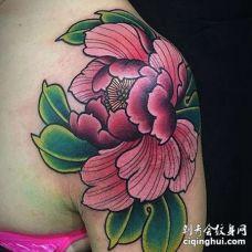 肩部新传统花朵