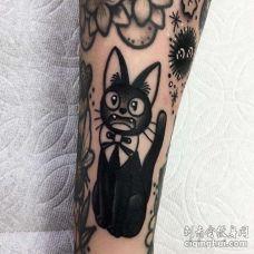 小臂内侧点刺猫