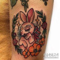 大臂外侧new school兔子