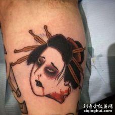 小腿外侧日式传统女人