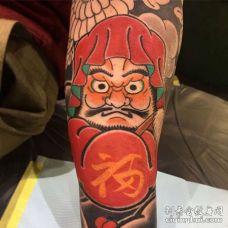 手臂内侧日式传统人物