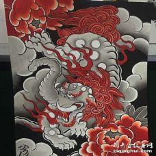 设计日式传统神兽