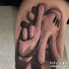 写实小腿手纹身图案