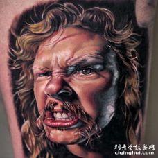 写实人像纹身图案