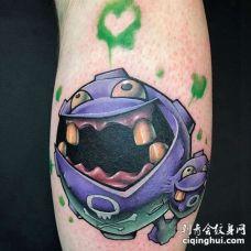 卡通小腿神奇宝贝瓦斯纹身图案