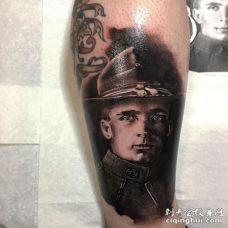 写实小臂人像纹身图案