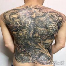 赵云纹身 满背手臂等常山赵子龙纹身图案