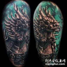 祥瑞之兆的麒麟纹身图案