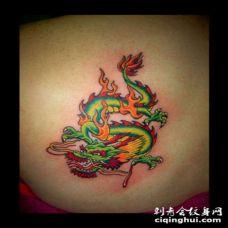 中国大青龙纹身图案