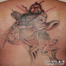 中国风无畏战士关公纹身图案