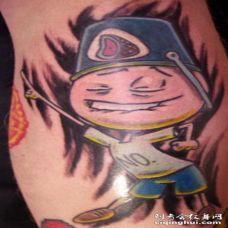 可爱的彩色卡通小人纹身图案