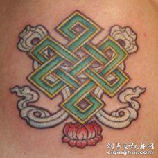 无限结佛教纹身图案
