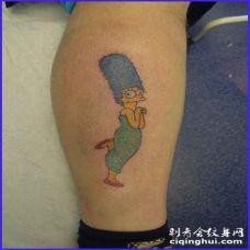 卡通辛普森家庭纹身图案