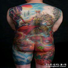 霸气个性的二郎神纹身图片