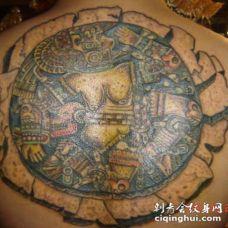 阿兹特克风格的抽象艺术纹身图案