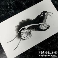 欧美蛇school个性纹身图案手稿遮盖推荐